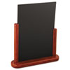 Deflect-O Securit Table Boards, 10 7/8 x 2 3/4 x 12 1/2, Mahogany Frame, 1/ea (DEFELEMLA)
