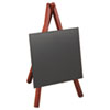 Deflect-O Securit Easel Table Board, 5 7/8 x 5 3/8 x 9 1/2, Mahogany Frame, 1/ea (DEFMINIMKR)