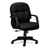 Hon 2090 Pillow-Soft Managerial Mid-Back Swivel/Tilt Chair, Black Fabric/Black Base (HON2092NT10T)
