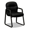 Hon 2090 Pillow-Soft Series Guest Arm Chair, Black Upholstery/Black Sled Base (HON2093NT10T)