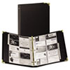 Samsill Vinyl Business Card Binder Holds 200 2 x 3 1/2 Cards, Ebony (SAM81080)