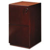 Mayline Luminary Series Wood Veneer File/File Pedestal, 15w x 19d x 27-3/4h, Cherry (MLNPFF19C)