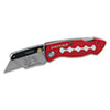 Great Neck Sheffield Lockback Knife, 1 Utility Blade, Red (GNS58113)