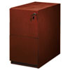 Mayline Luminary Series Wood Veneer File/File Pedestal, 15w x 22d x 27-3/4h, Cherry (MLNPFF22C)