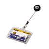 Durable Shell-Style ID Card Holder, Vertical/Horizontal, With Reel, Clear, 10/BX (DBL801219)