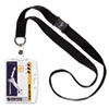 Durable Shell-Style ID Card Holder, Vertical/Horizontal, With Necklace, Clear, 10/Pack (DBL826819)