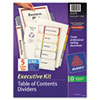Avery Ready Index Contents Dividers, 5-Tab, 1-5, Letter, Multicolor, Set of 5 (AVE11275)