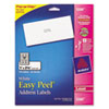 Avery Easy Peel Laser Address Labels, 1 x 2-5/8, White, 750/Pack (AVE5260)