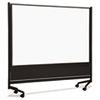 Best-Rite D.O.C. Mobile Double-Sided Marker Board Divider, 72 x 72, Black (BLT74902)