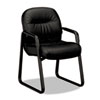 Hon Leather 2090 Pillow-Soft Series Guest Arm Chair, Black (HON2093SR11T)
