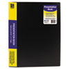 C-Line Bound Sheet Protector Presentation Book, 24 Sleeves, 11 x 8-1/2, Black (CLI33240)