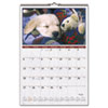 At-A-Glance Recycled Puppies Wall Calendar, 15-1/2 x 22-3/4 (AAGDMW16728)