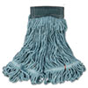 Rubbermaid Commercial Web Foot Wet Mops, Cotton/Synthetic, Green, Medium, 5 Green Headband (RCPA152GRE)