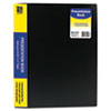 C-Line Bound Sheet Protector Presentation Book, 12 Sleeves, 11 x 8-1/2, Black (CLI33120)