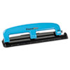 Paperpro 12-Sheet Capacity Compact Three-Hole Punch, Rubber Base, Blue/Black (ACI2103)