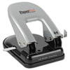 Paperpro 40-Sheet Traditional Two-Hole Punch, Rubber Base, Black/Silver (ACI2340)