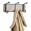 Safco Onyx Mesh Wall Racks, 3 Hook, Steel (SAF6402BL)