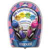 Maxell Kids Safe Headphones, Pink/Blue/Silver (MAX190338)