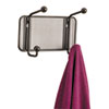 Safco Onyx Mesh Wall Racks, 2 Hook, Steel (SAF6401BL)