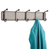 Safco Onyx Mesh Wall Racks, 5 Hook, Steel (SAF6403BL)