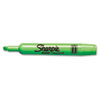 Sharpie Accent Tank Style Highlighter, Chisel Tip, Fluorescent Green, 12/Pk (SAN25026)