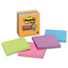 Post-It Notes Super Sticky Super Sticky Notes, 4 x 4, Lined, 5 Electric Glow Colors, 6 90-Sheet Pads/Pack (MMM6756SSAN)