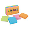 Post-It Notes Super Sticky Pads in Electric Glow Colors, Ninety 2 x 2 Sheets, 8 Pads/Pack (MMM6228SSAN)