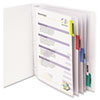 C-Line Poly Sheet Protectors with Index Tabs, Assorted Color Tabs, 11 x 8 1/2, 5/ST (CLI05550)
