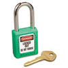 Master Lock No. 410 Lightweight Xenoy Safety Lockout Padlock, 6 Pin, Green (MLK410GRN)