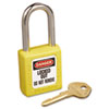 Master Lock No. 410 Lightweight Xenoy Safety Lockout Padlock, 6 Pin, Yellow (MLK410YLW)