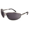 Harley-Davidson HD 500 Series Safety Glasses, Matte Silver Frame, Gray Hard Coat Lens (HRDHD502)