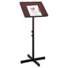 Safco Adjustable Speaker Stand, 21w x 21d x 30h to 46h, Mahogany/Black (SAF8921MH)