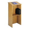 Safco Stand-Up Lectern, 23w x 15-3/4d x 46h, Medium Oak (SAF8915MO)