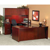 Mayline Luminary Series Wood Veneer Bow Front Desk Shell, 72w x 42d x 29h, Cherry (MLNDK3672C)
