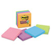 Post-It Notes Super Sticky Super Sticky Notes, 3 x 3, Asstd Electric Glow, 5 90-Sheet Pads/Pack (MMM6545SSAN)
