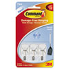 Command Clear Hooks & Strips, Plastic/Wire, Small, 3 Hooks w/ 4 Adhesive Strips per Pack (MMM17067CLR)