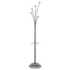 Alba Festival Coat Tree w/Umbrella Holder, Five Knobs, Metal/Wood, Gray/Mahogany (ABAPMFEST)