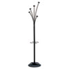 Alba Festival Coat Tree, Five Knobs, Black (ABAPMFESTYN)
