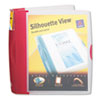 Avery Silhouette Poly View Binder w/Inside Pocket, 1-1/2 Capacity, Red (AVE17333)