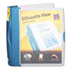 Avery Silhouette Poly View Binder w/Inside Pocket, 1-1/2 Capacity, Light Blue (AVE17334)