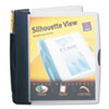 Avery Silhouette Poly View Binder w/Inside Pocket, 1-1/2 Capacity, Dark Blue (AVE17335)