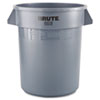 Rubbermaid Commercial Brute Round Container, 20gal, Gray (RCP2620GRAY)