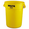 Rubbermaid Commercial Brute Round Container, 32gal, Yellow (RCP2632YEL)