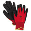 North Safety NorthFlex Red Foamed PVC Palm Coated Gloves, Medium (NSPNF118M)