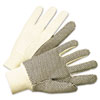 Anchor Brand 1000 Series PVC Dotted Canvas Gloves, White/Black, Large (ANR1005)