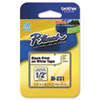 Brother P-Touch M Series Tape Cartridge for P-Touch Labelers, 1/2w, Black on White (BRTM231)