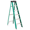 Louisville #592 Six-Foot Folding Fiberglass Step Ladder, Green/Black (DADFS4006)