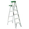 Louisville #428 Six-Foot Folding Aluminum Step Ladder, Green (DADAS4006)