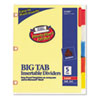 Avery WorkSaver Big Tab Dividers w/CPR Holes, Five Multicolor Tabs, Letter, Buff (AVE23280)