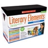 Scholastic Literary Elements Box Set, Eight Books with Teaching Guides and Posters (SHS0545416329)